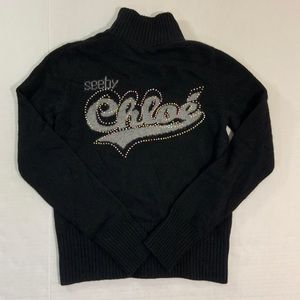 See By Chloe Wool Zip Jacket Logo Rare 6